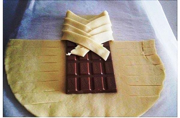 Слойка с шоколадом из слоеного теста рецепт пошагово