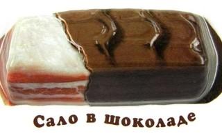 Оригинальный десерт – сало в шоколаде