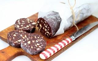 Самый вкусный рецепт колбаски шоколадной из печенья и какао