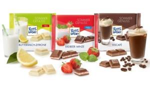 Ассортимент немецкого шоколада Риттер Спорт с фото