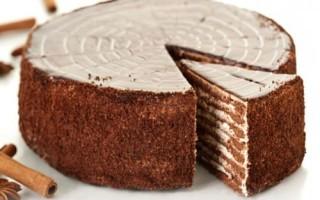 Шоколадно-медовый торт Спартак в домашних условиях