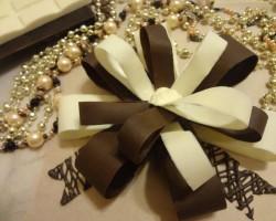 Украшения для торта своими руками – бант из шоколада