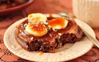 Вкусные шоколадные оладьи за полчаса
