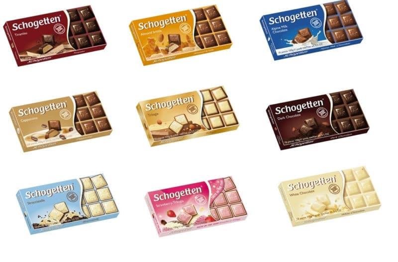 Шоколад Шогеттен виды