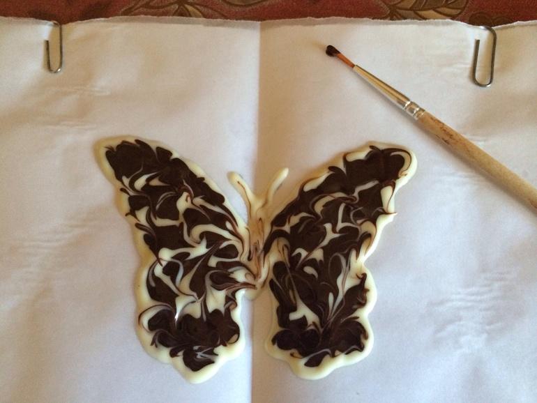 Шоколадная бабочка