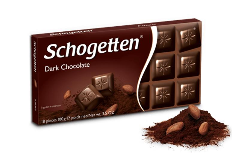 Черный шоколад schogetten