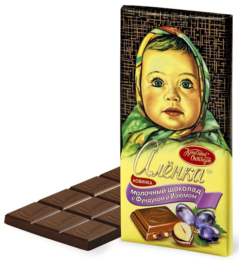 Шоколад Аленка с фундуком