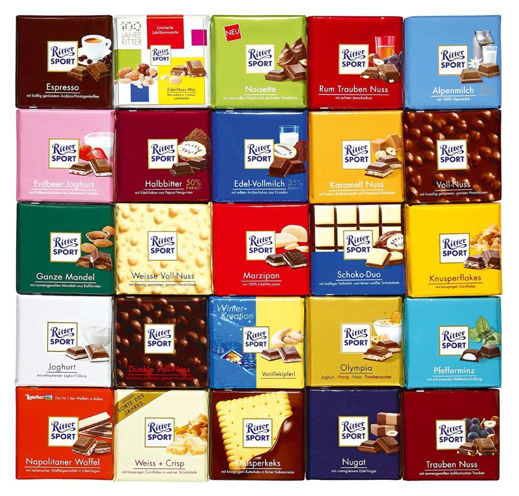 Шоколад Риттер Спорт ассортимент фото