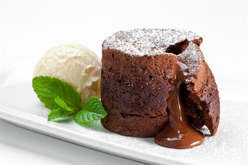 Брауни с жидким шоколадом внутри рецепт