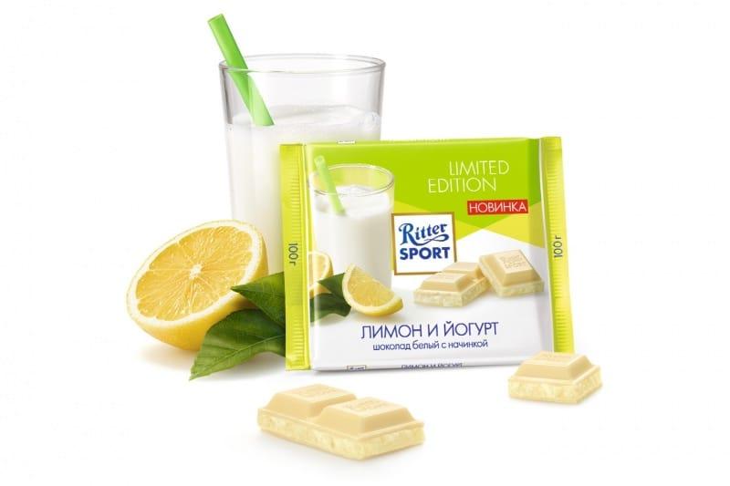 Риттер Спорт лимон и йогурт