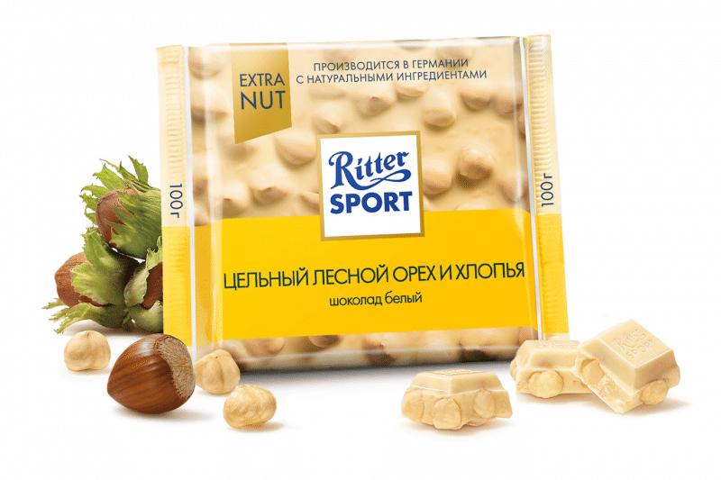 Риттер Спорт белый с орехами
