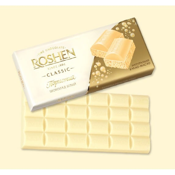 Белый пористый шоколад
