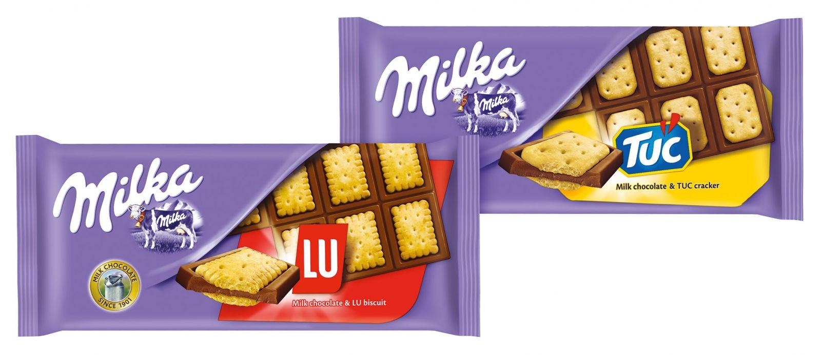 Шоколад Милка с печеньем