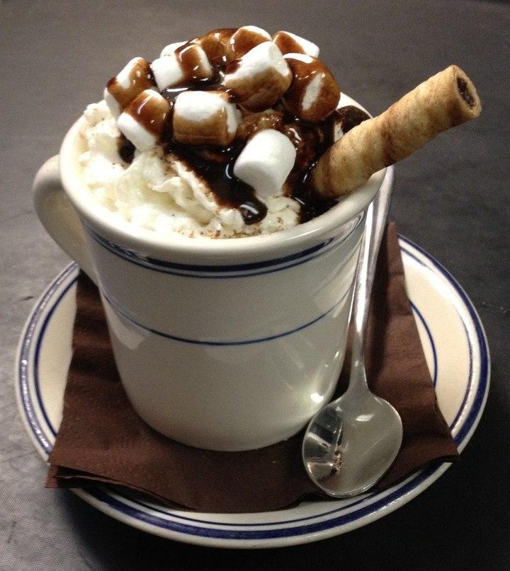 Какао с мороженым