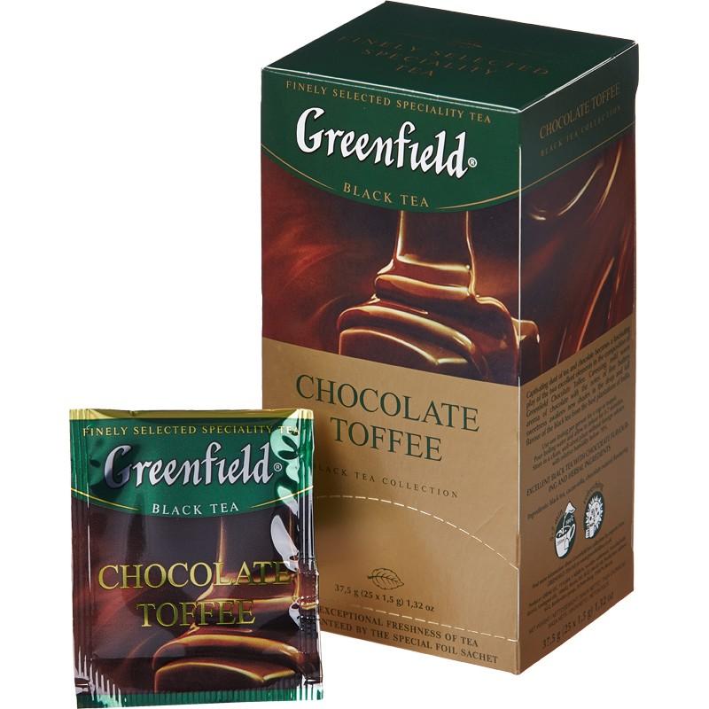 Чай гринфилд с шоколадом