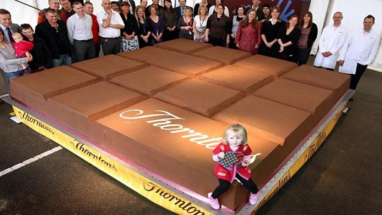 Самая большая шоколадная плитка