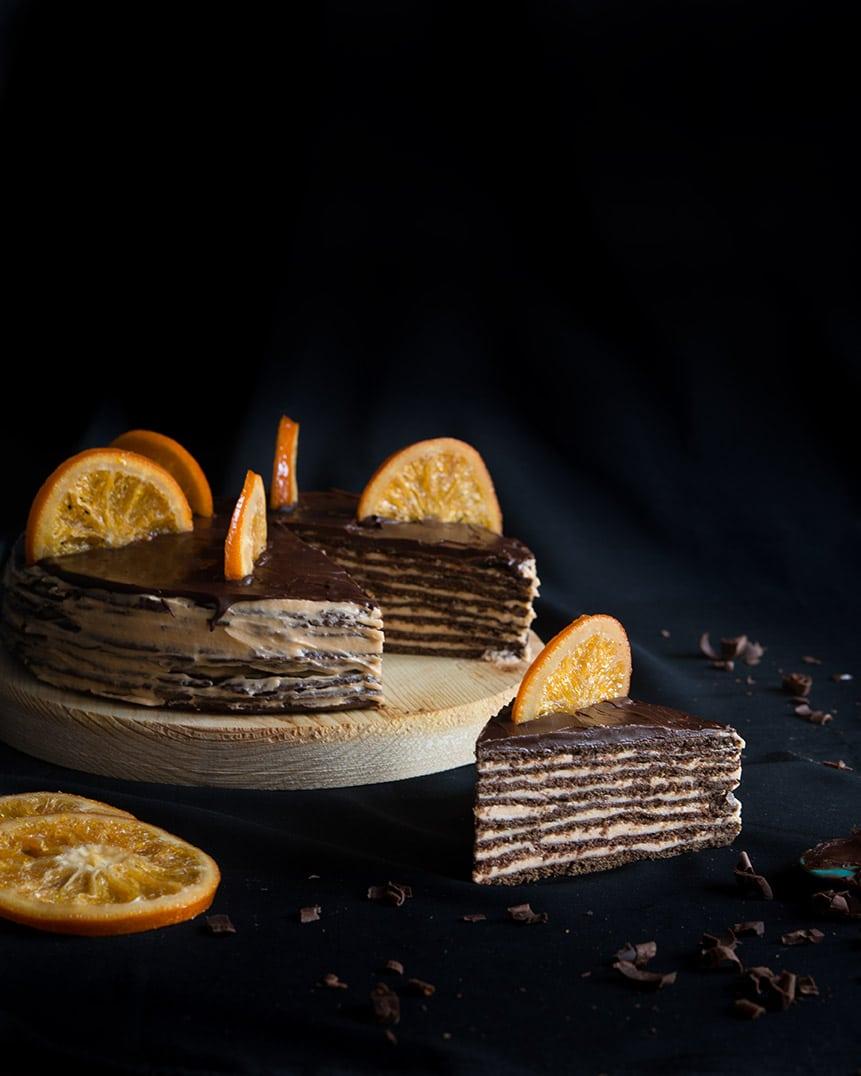 Торт спартак с апельсином