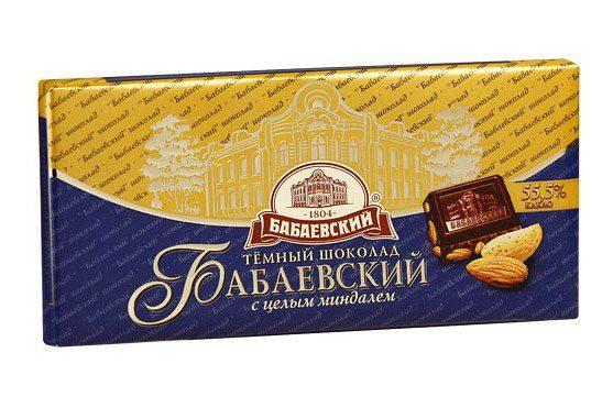 Шоколад Бабаевский с миндалем
